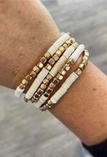 Kate Stretch Bracelet Set in White
