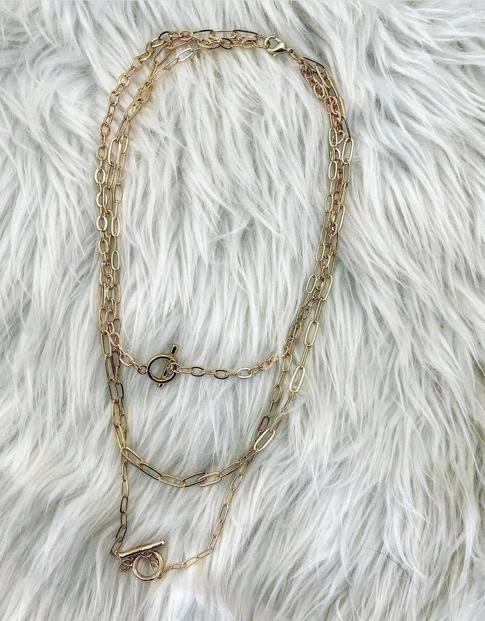 Multi Toggle & Chain Necklace