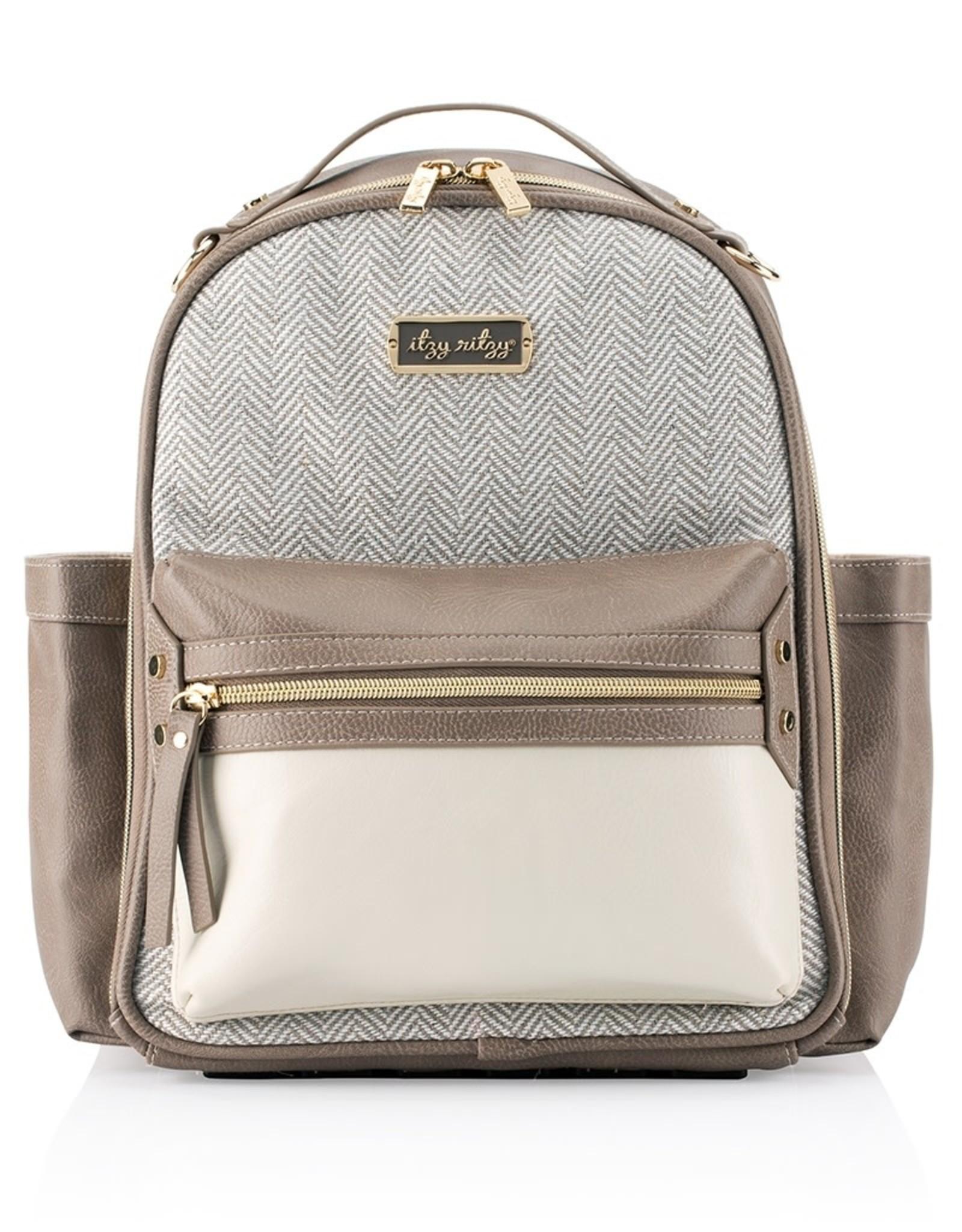 Itzy Ritzy Vanilla Latte Itzy Mini Diaper Bag Backpack