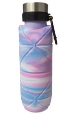 Iscream Silver Star Tie Dye Origami Collapsible Water Bottle