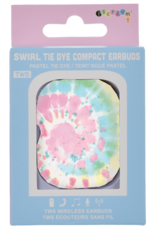 Iscream Swirl Tie Dye Compact Earbuds