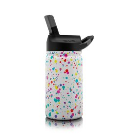 SIC 12 oz  Splatter Paint Stainless Steel Water Bottle