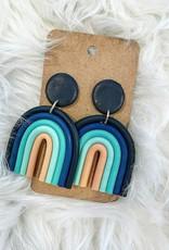 Clay Rainbow earring in Navy