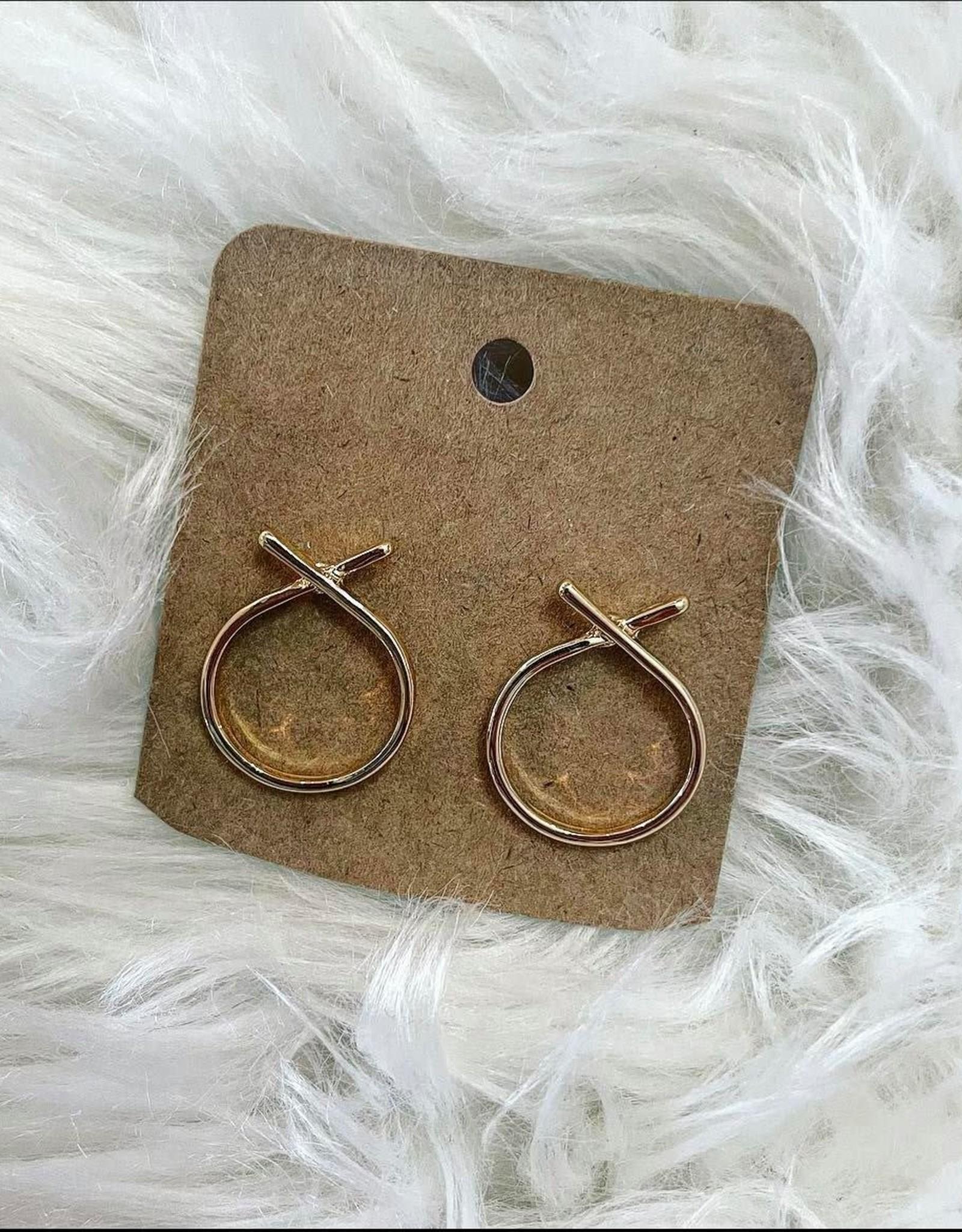 Cross Circle Earring