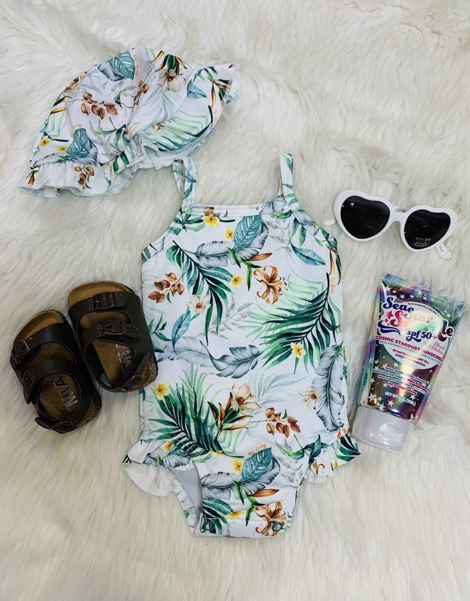 UpBaby Tropical Swimsuit w/Beach Hat