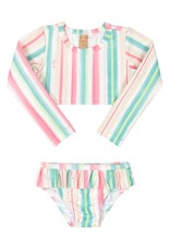 UpBaby Striped Rash Guard Bikini