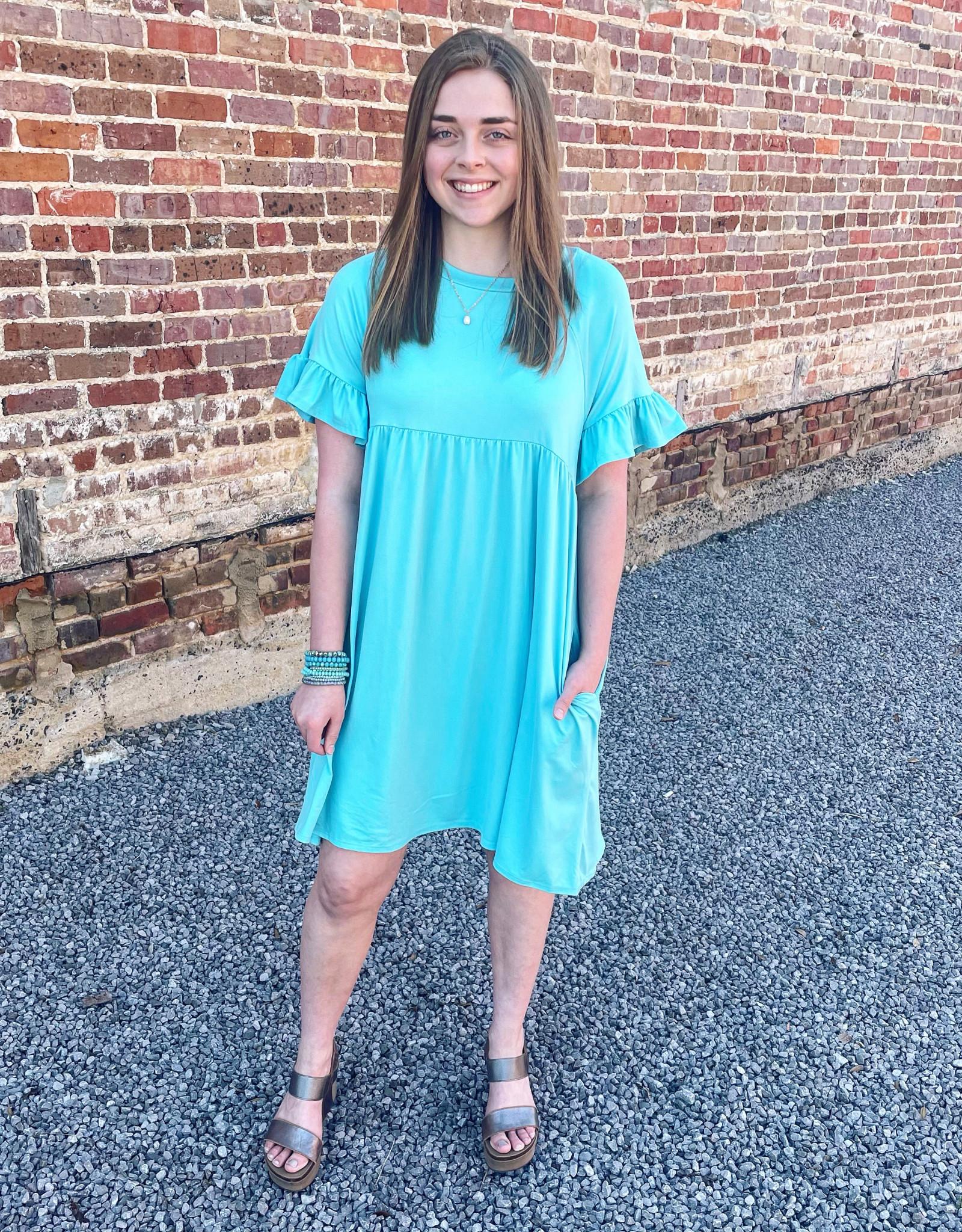 Penelope Dress in Mint