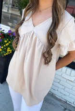 Layla Top in Taupe