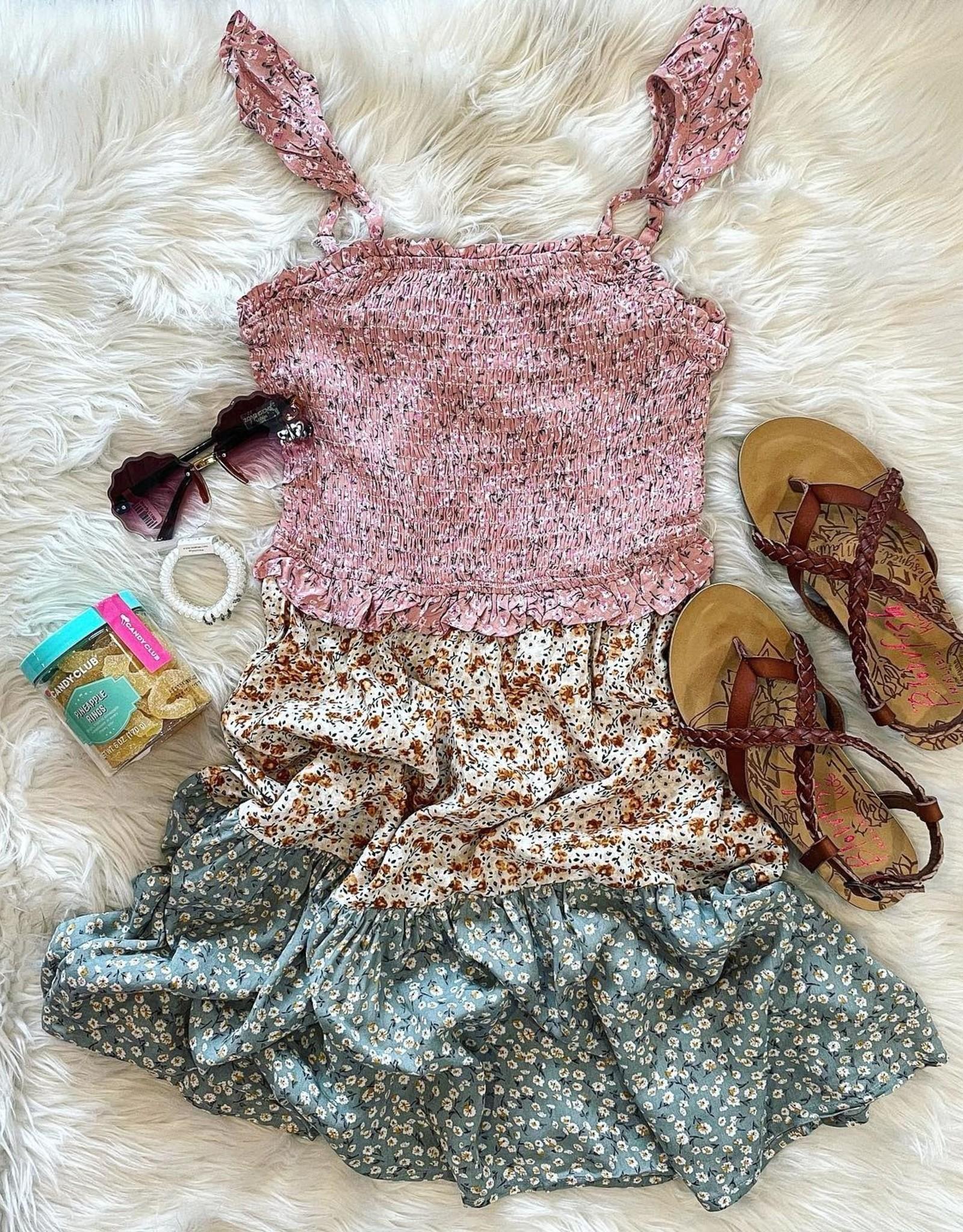 Hayden Reese Dress in Pink Floral