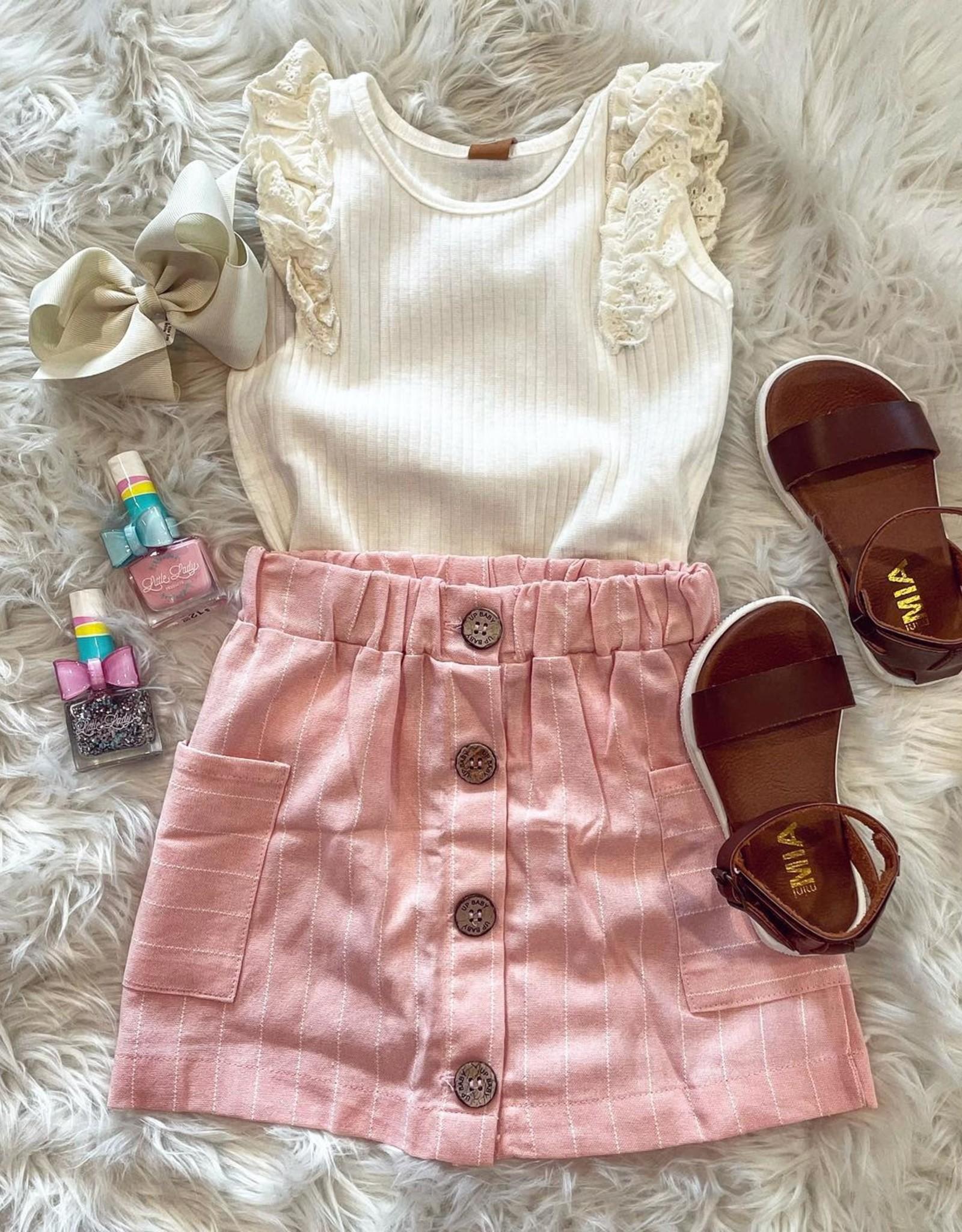 UpBaby Beth Skirt Set in Blush