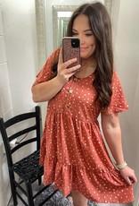 Hayden Katie Dress in Rust