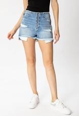 KanCan Liz Ultra High Rise Mom Shorts