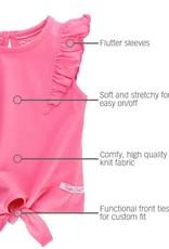 RuffleButts Rose Tie Top