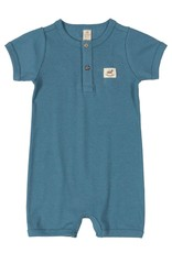 UpBaby Short Sleeved Ribbed Romper in Blue
