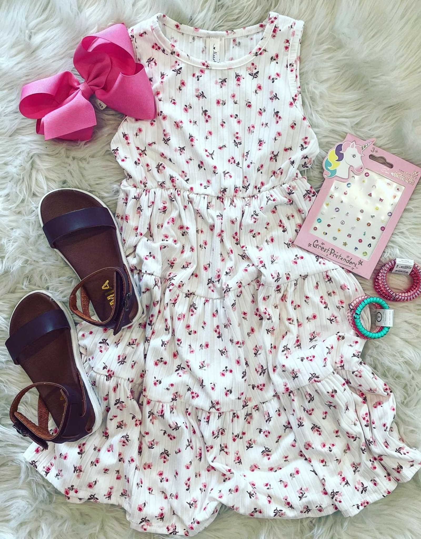 Leah Tiered Floral Print Dress