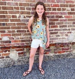 Hayden Addison Floral Tunic in Sage