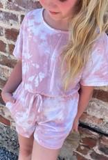 Hayden Leah Romper in Pink TieDye