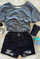 Hayden Cassie Denim Short in Black