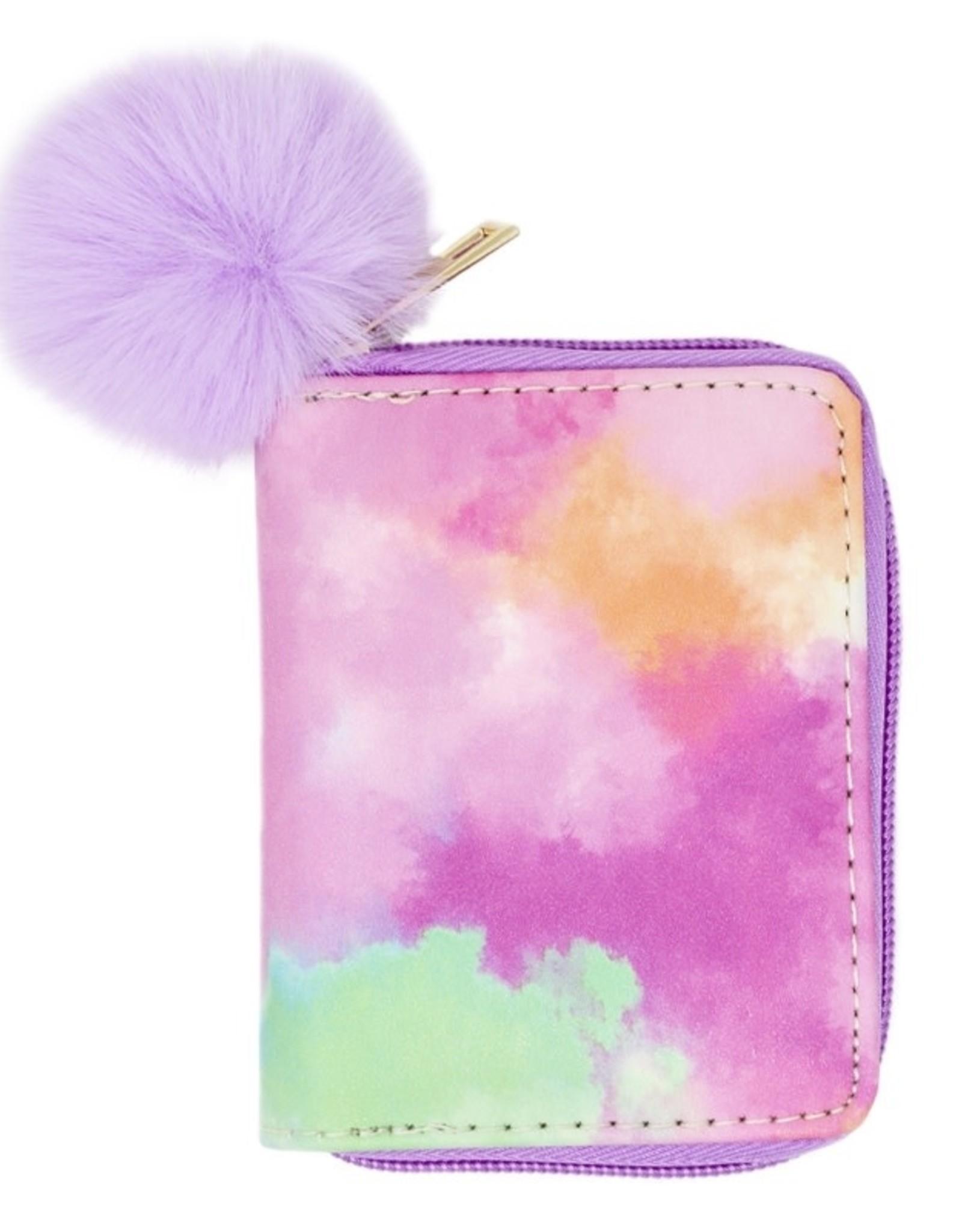 Zomi Gems Purple Tie Dye Wallet