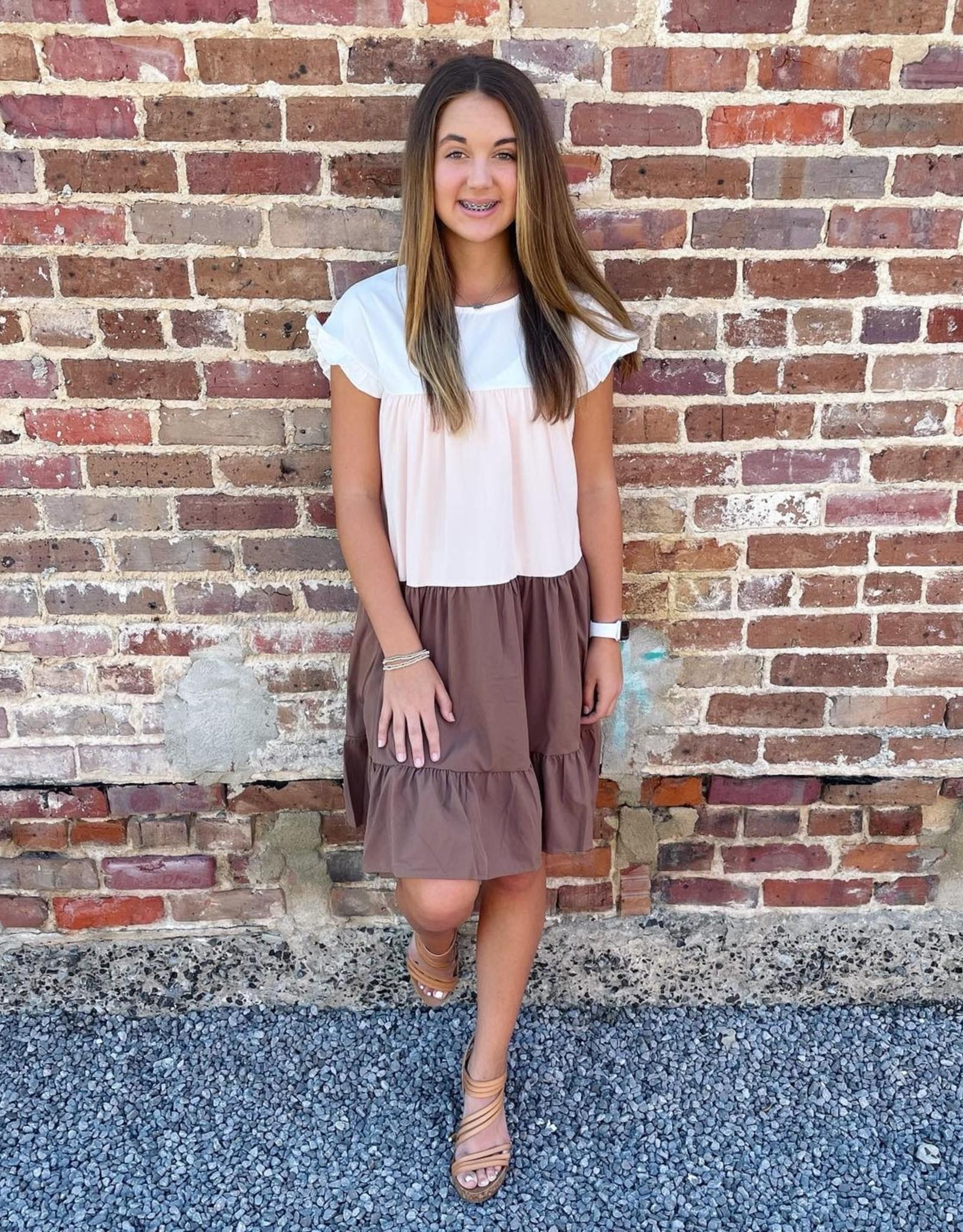 Rebecca Dress in Tan