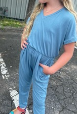 Good Girl Addison Jumpsuit in Blue