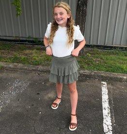 Hayden Mallory Smocked Skirt in Sage