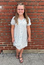 Kaley Dress in Blue Floral
