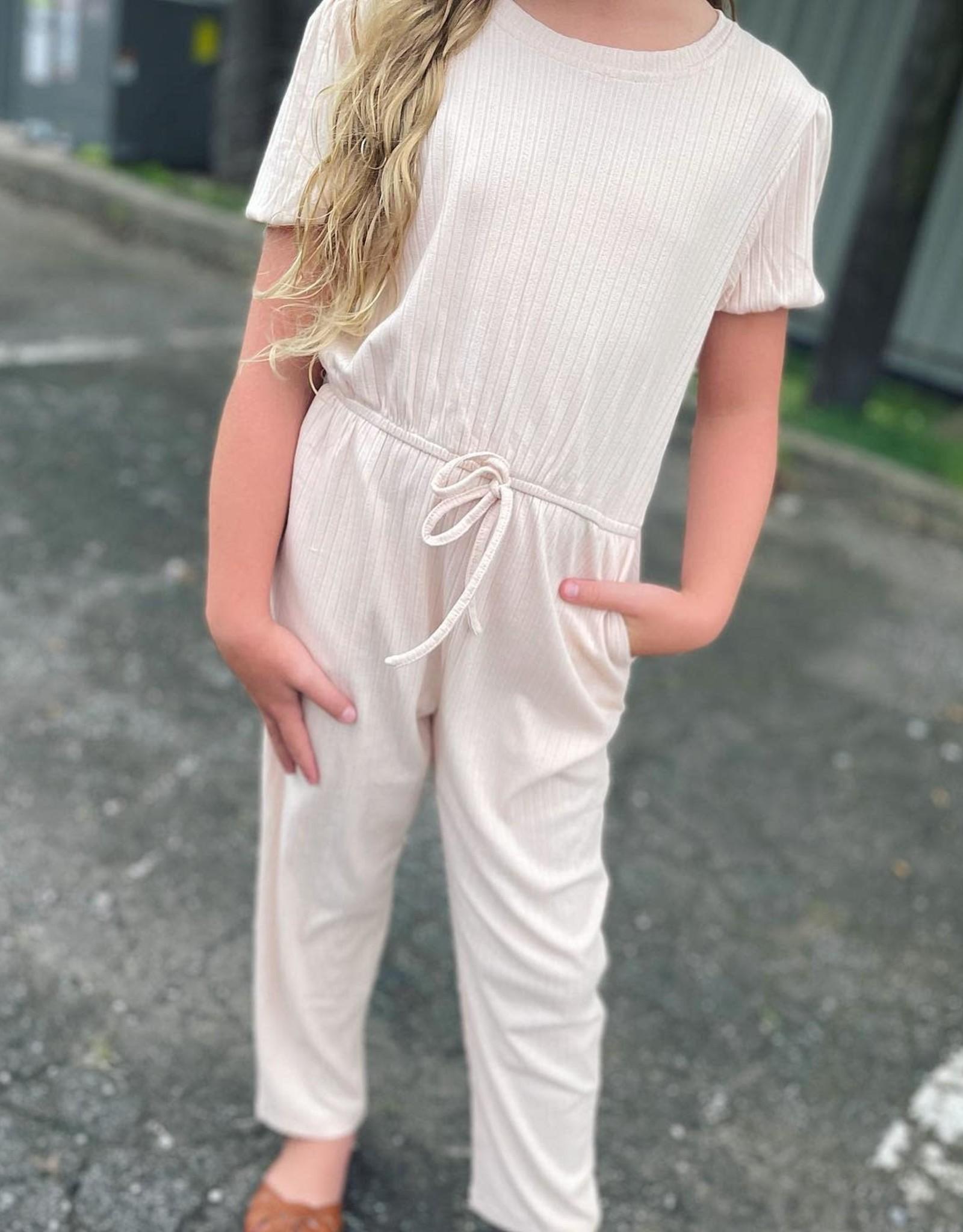 Hayden Stacey Puff Sleeve Jumpsuit in Blush