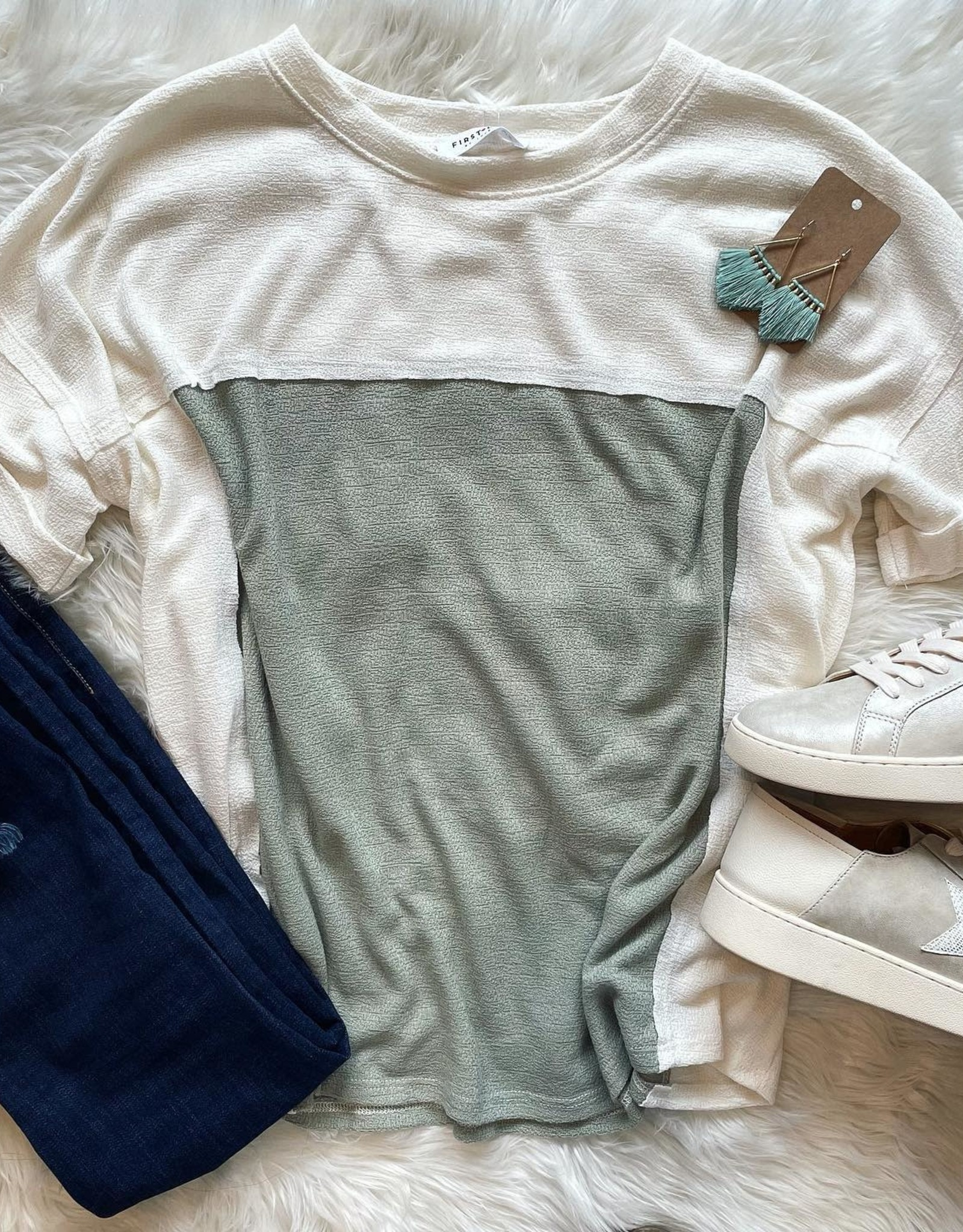 Gia Top in  Sage