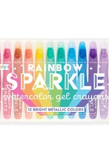 ooly Rainbow Sparkle Metallic Gel Crayons