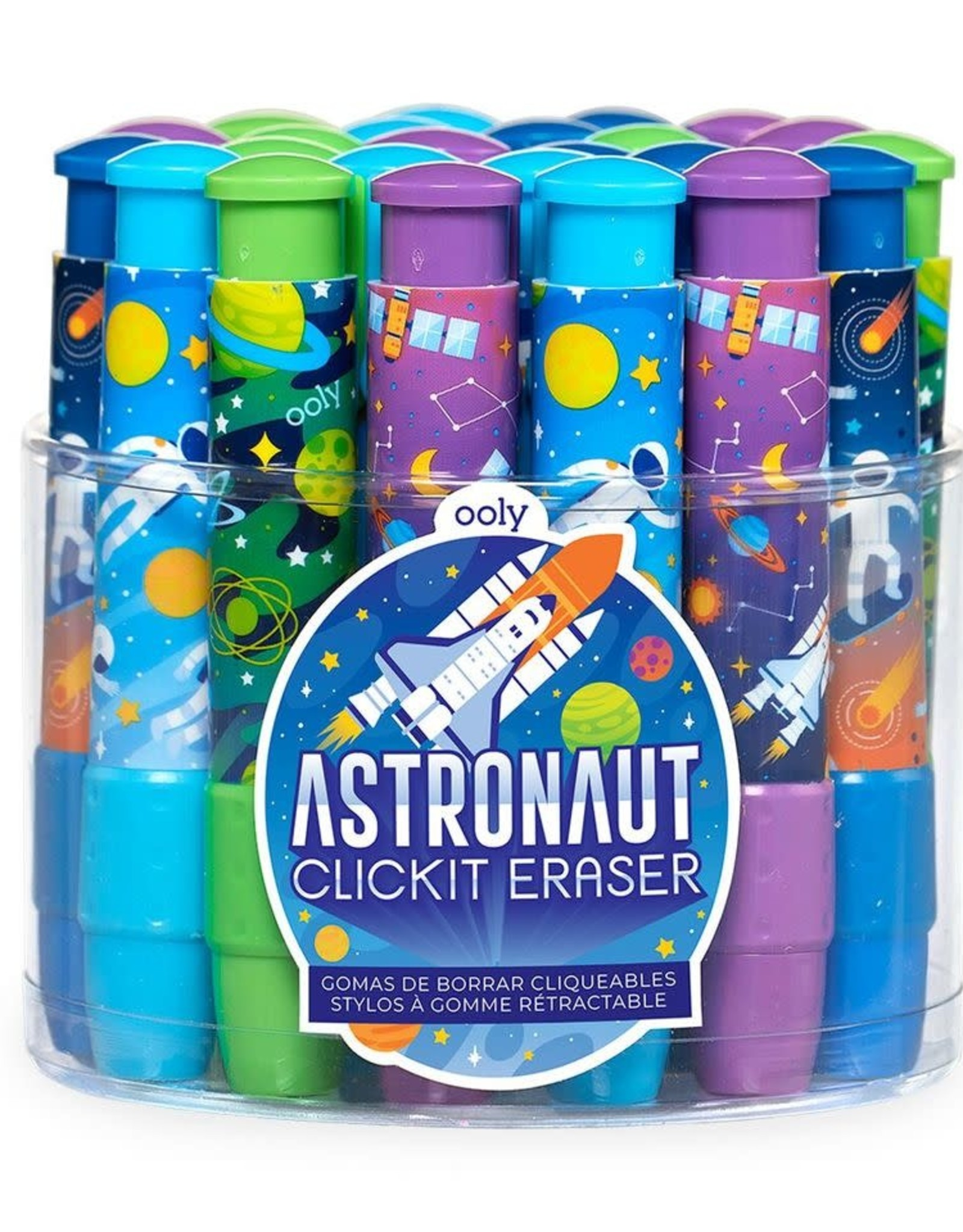 ooly Click-It Erasers : Astronaut