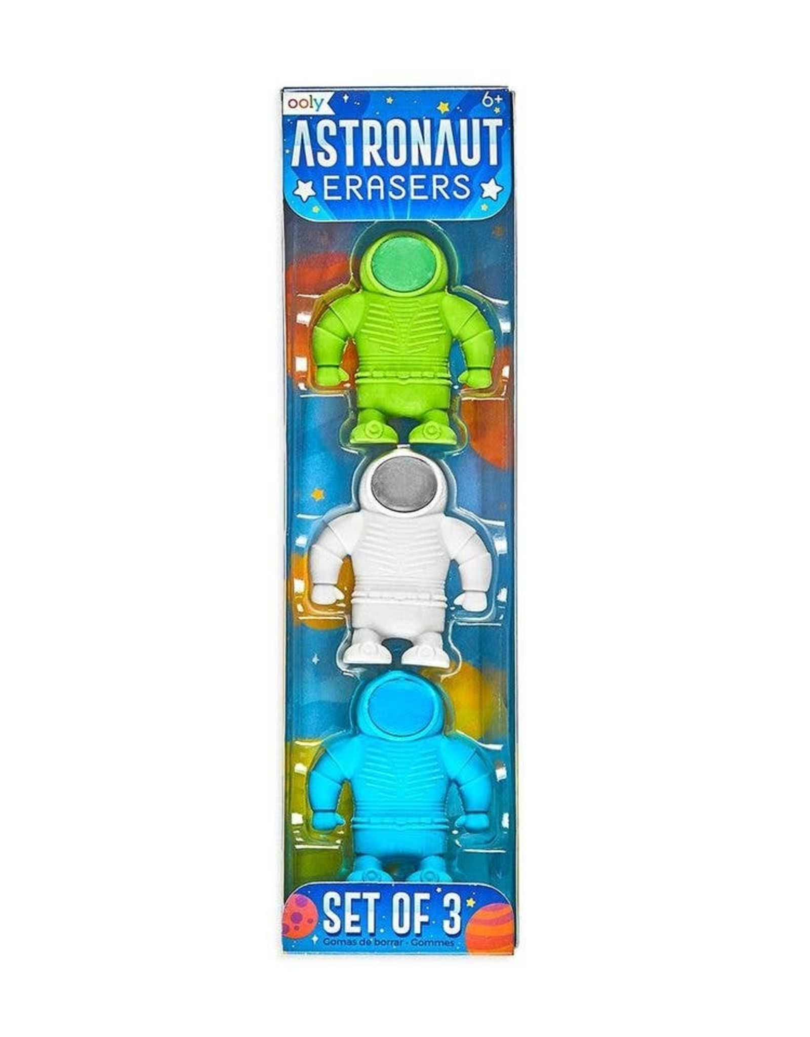ooly Astronaut Erasers - Set of 3