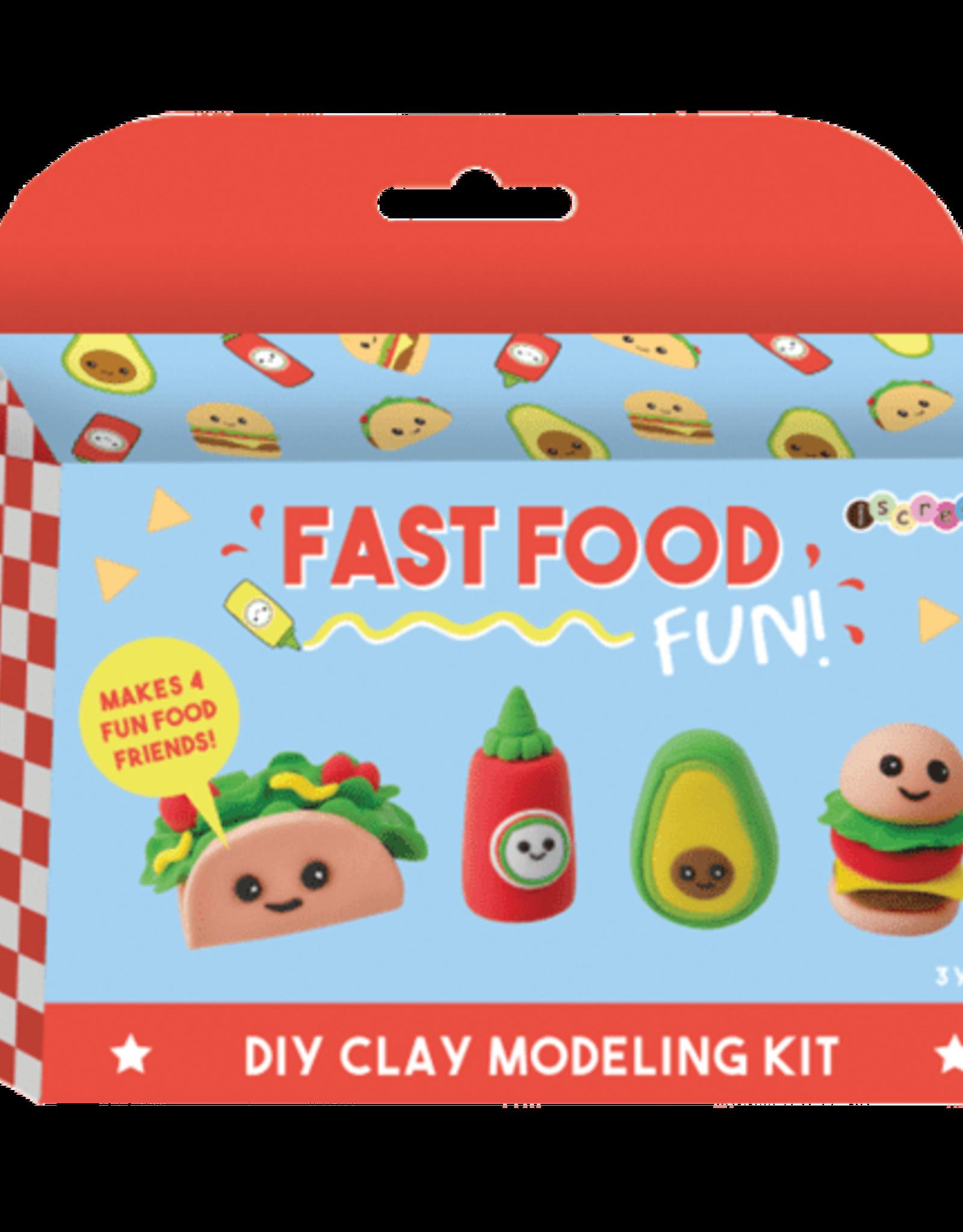 Iscream Fast Food Fun DIY Clay Modeling Kit