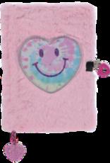 Iscream Heart TieDye Lock&Key Furry Journal