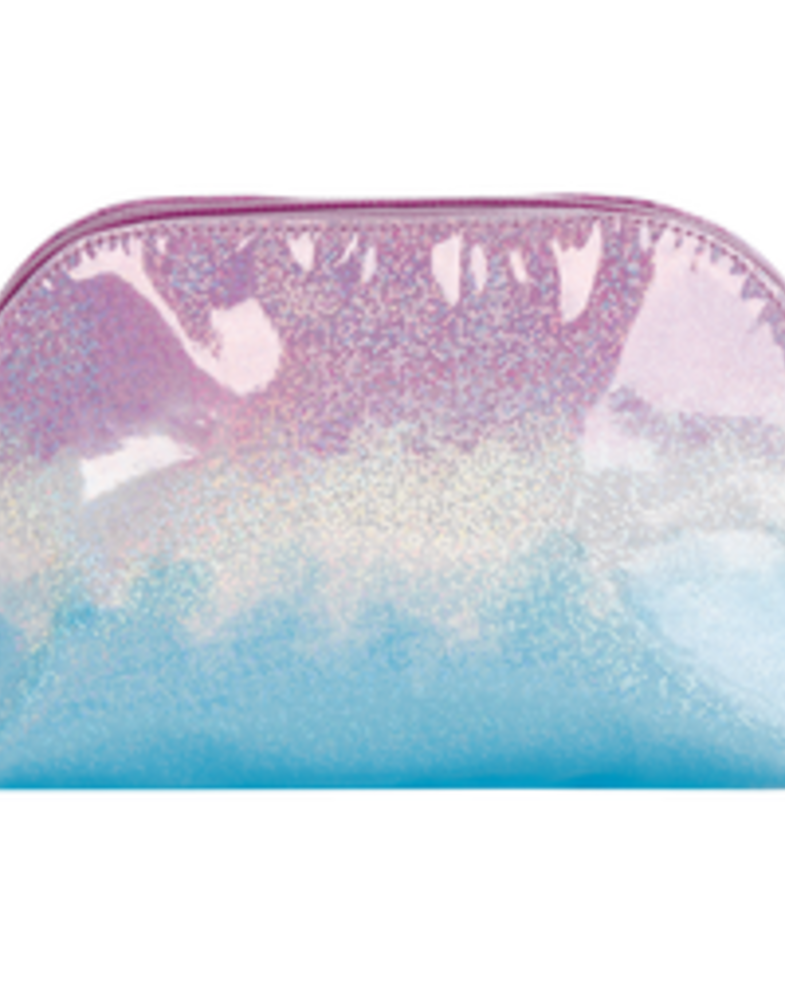 Iscream Ombre' Sparkly Oval Cosmetic Bag