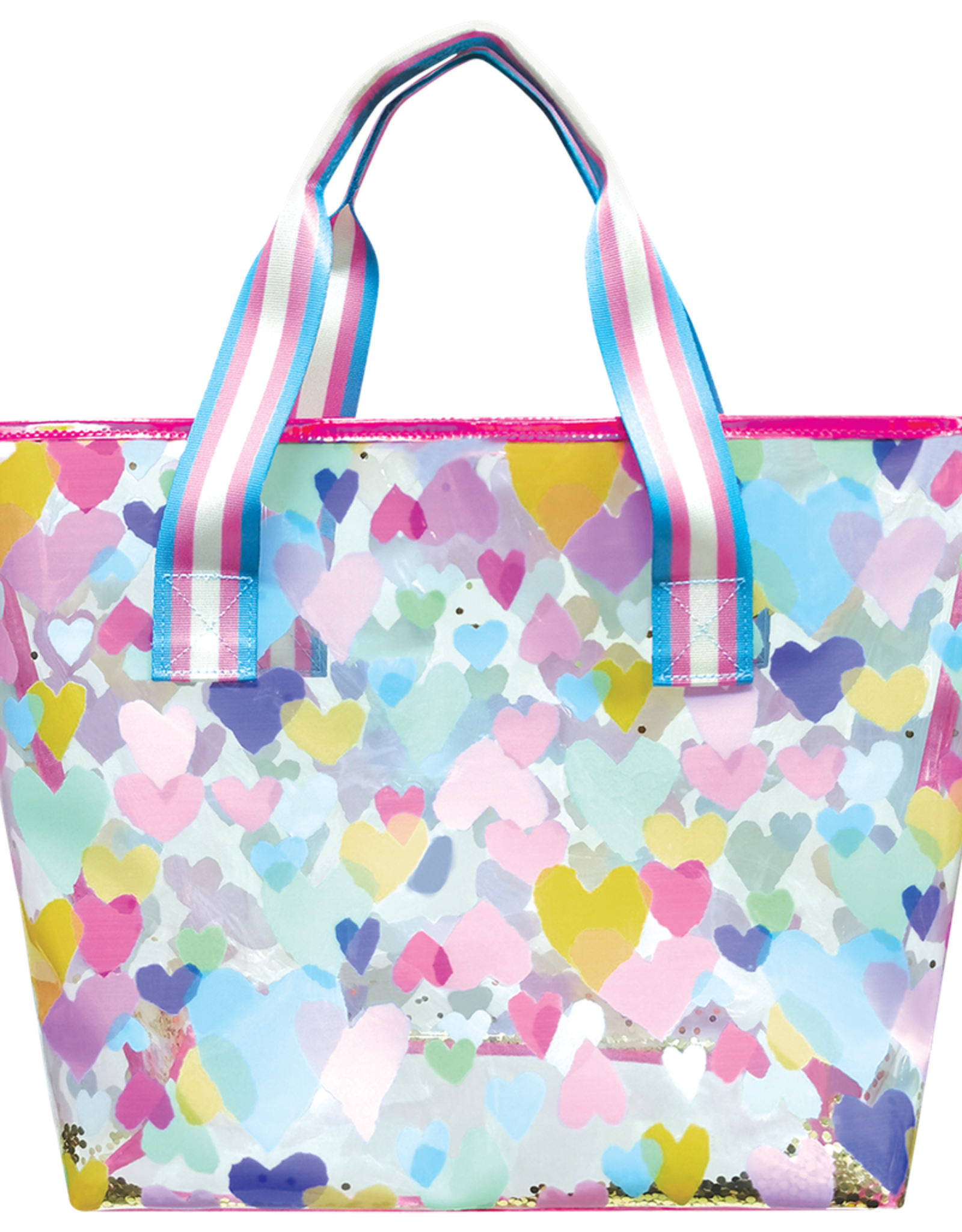 Iscream Pastel Hearts Clear Tote Bag