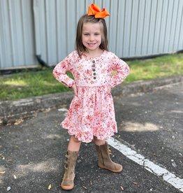 Honeydew Hannah Dress in Orange Floral