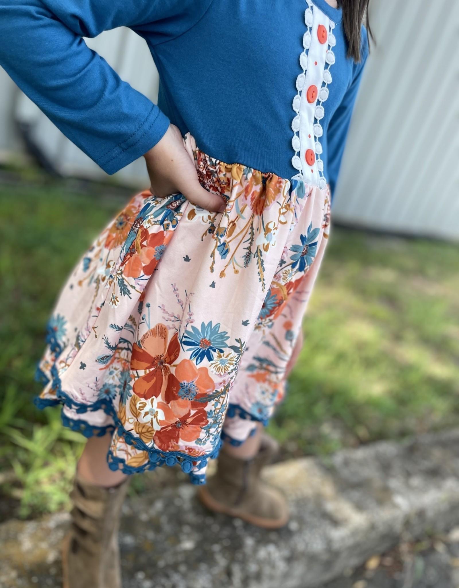 Honeydew Hadley Dress in Blue