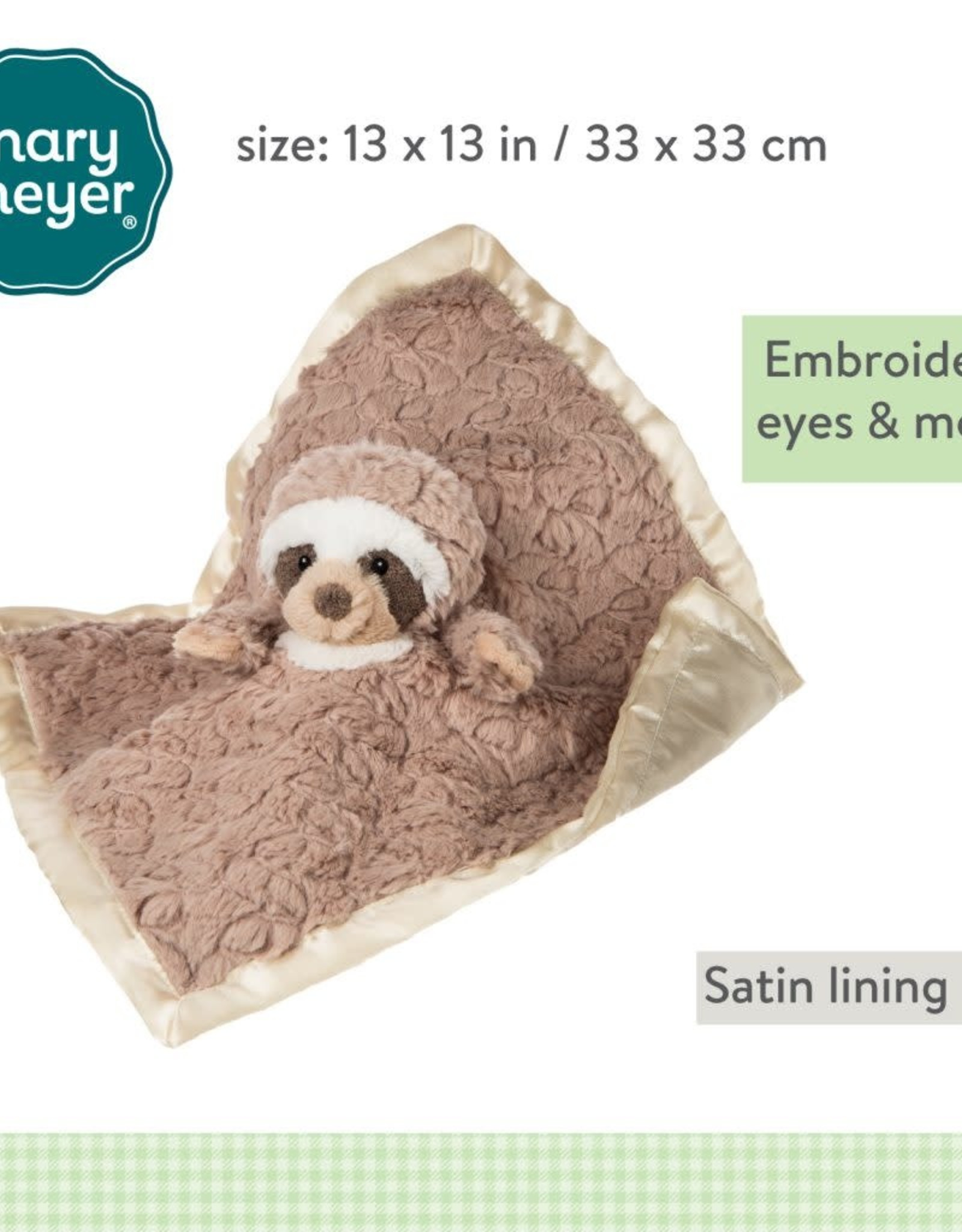 Mary Meyer Putty Nursery Sloth Character Blanket – 13×13″