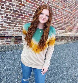 Stacey Sweatshirt in Green Ombre