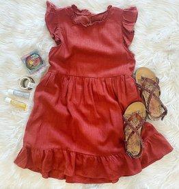 Hayden Janie Linen Dress in Rust