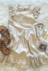 Hayden Janie Linen Dress in Oatmeal