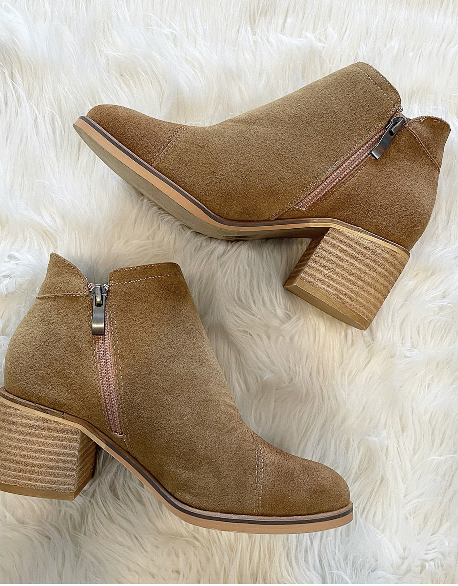 Bambi Bootie in Camel