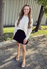 zenana Heather Pocket Sweater in Oatmeal
