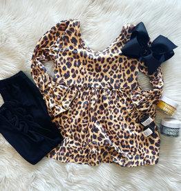 Macy Leopard Set in Black