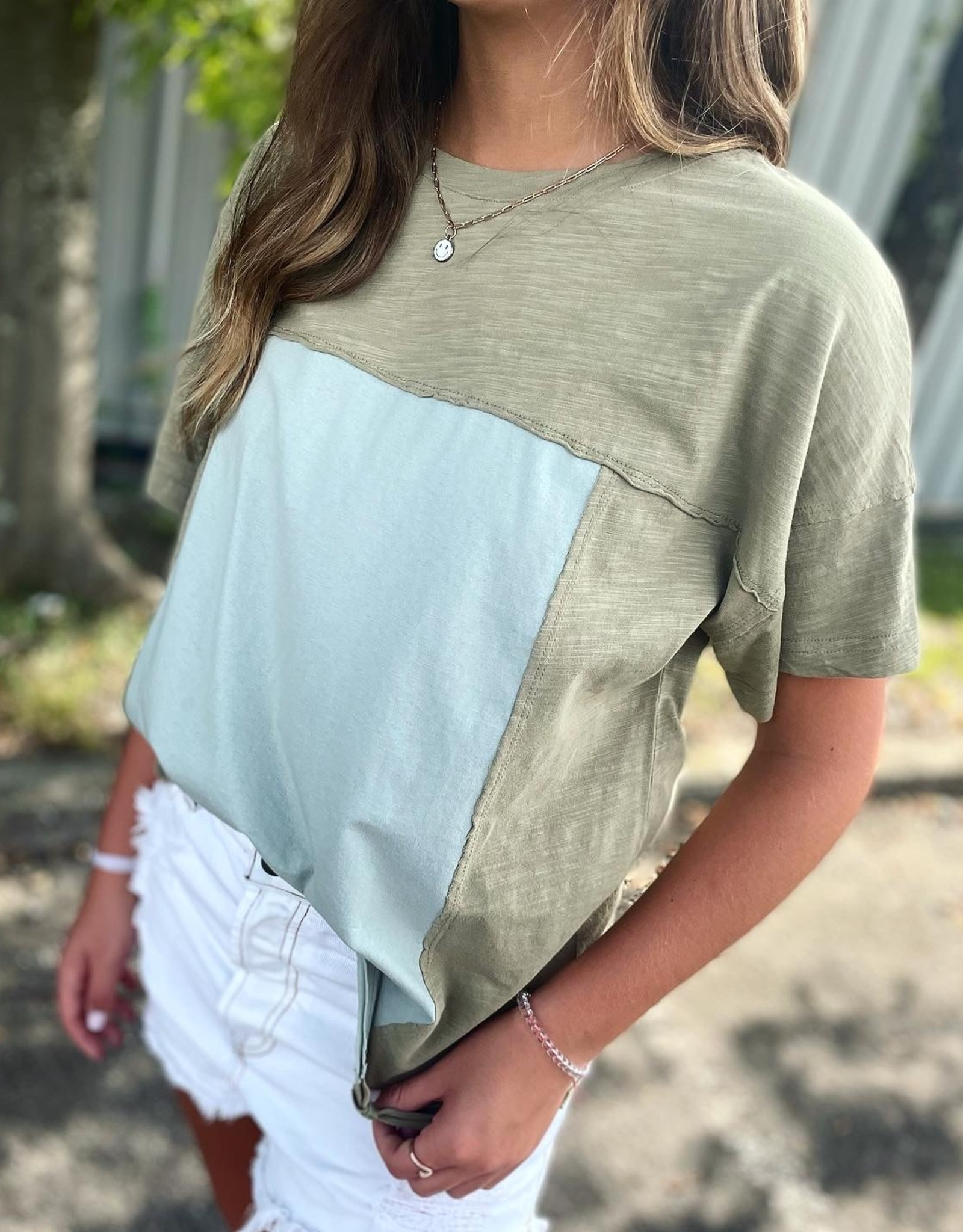 Mia Top in Sage