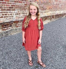 Hayden Polly Dress in Rust