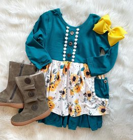 Honeydew Marlee Dress in Turquoise