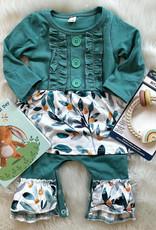 Honeydew Marlee Romper in Turquoise