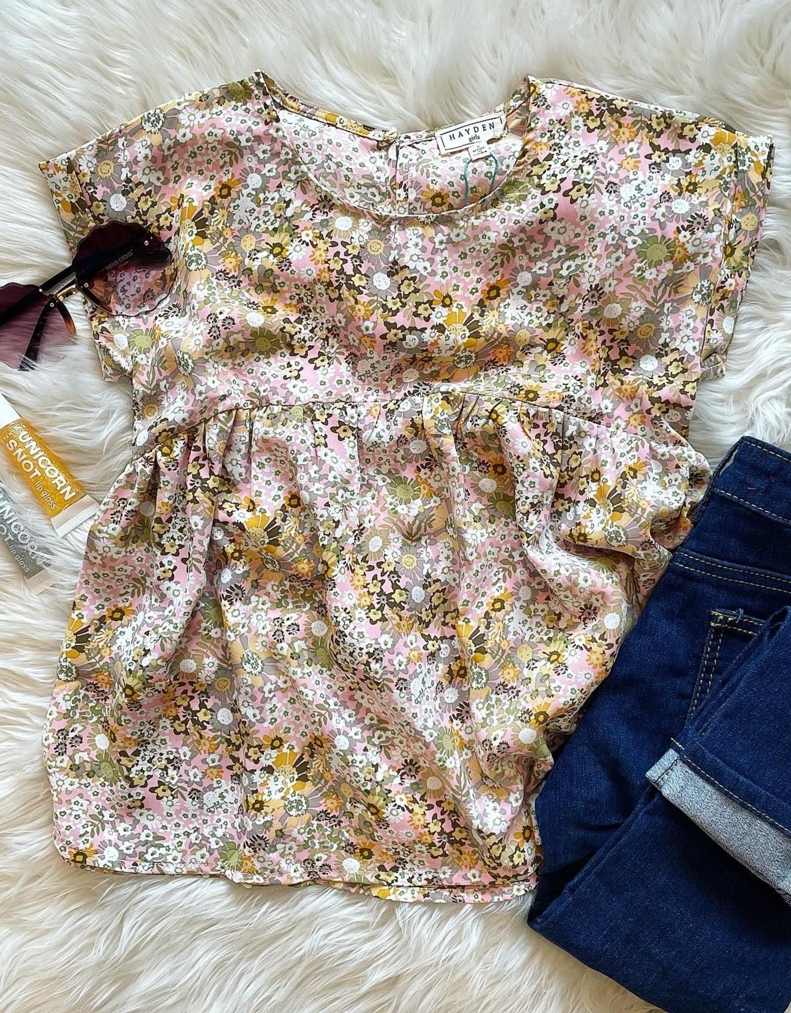Taylor Babydoll  Top in Floral
